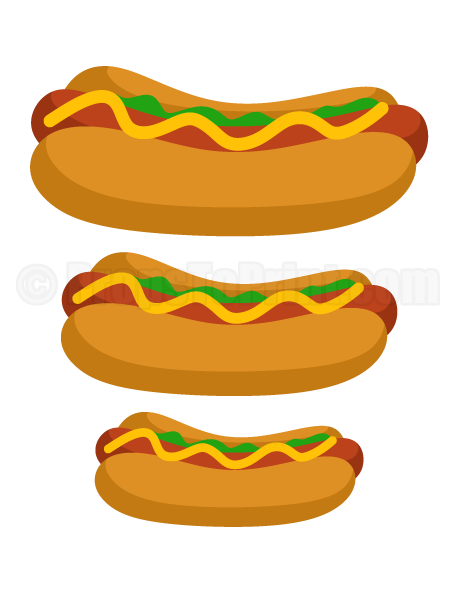 clip art royalty free library Printable hot dog photo booth prop