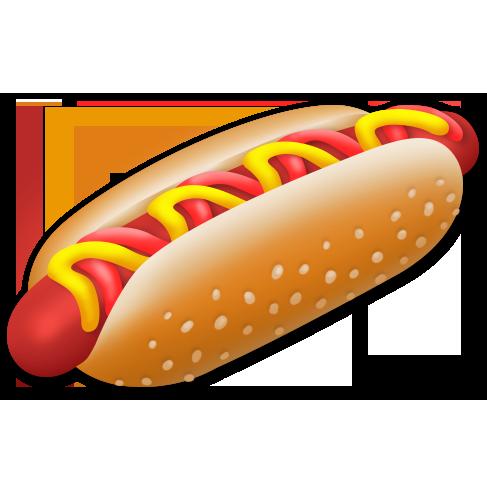 svg royalty free library  hot dog for. Hotdog transparent stick png