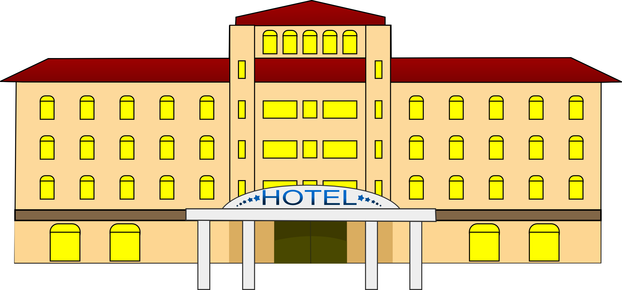 png royalty free stock Hotel Building Clipart