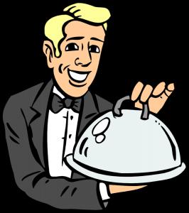 banner royalty free stock Restaurant business loans turning. Restaurants clipart cafe waiter