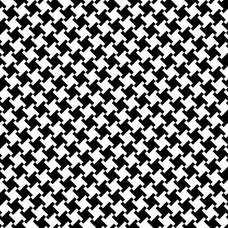 vector free stock Houndstooth vector black and white. Seamless pattern in