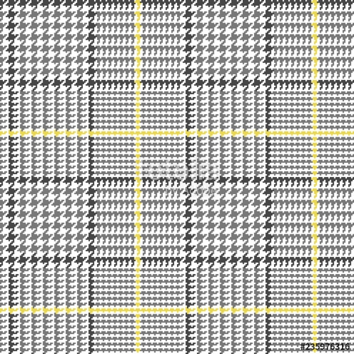 vector freeuse stock Glen plaid in grey. Houndstooth vector fabric pattern