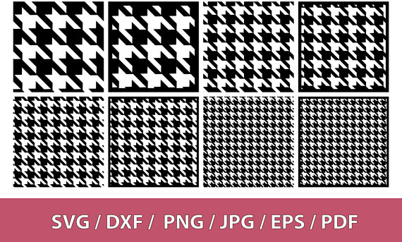 clip art free library Background pattern . Houndstooth vector svg