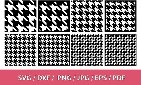 png black and white stock Svg background pattern dxf. Houndstooth vector transparent
