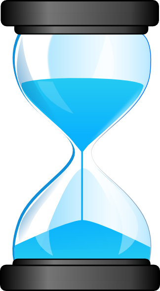 black and white library Hourglass Clip Art at Clker