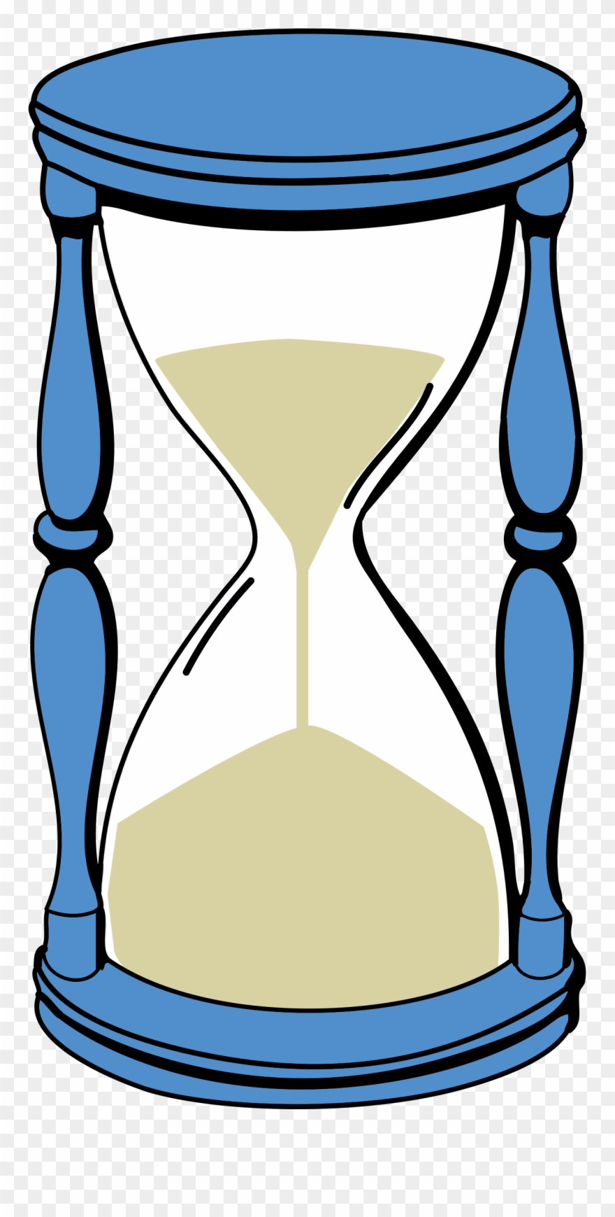 svg free Time capsule sand timer. Hourglass clipart.