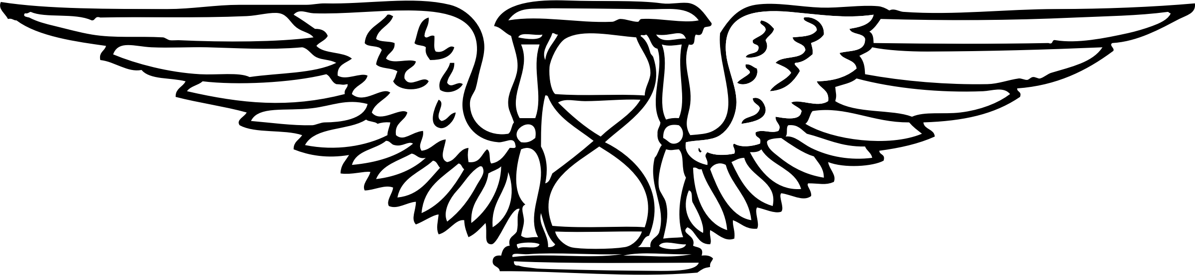 clip library download winged time hourglass