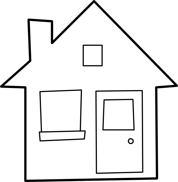 image transparent download House outline panda free. Home clipart black and white