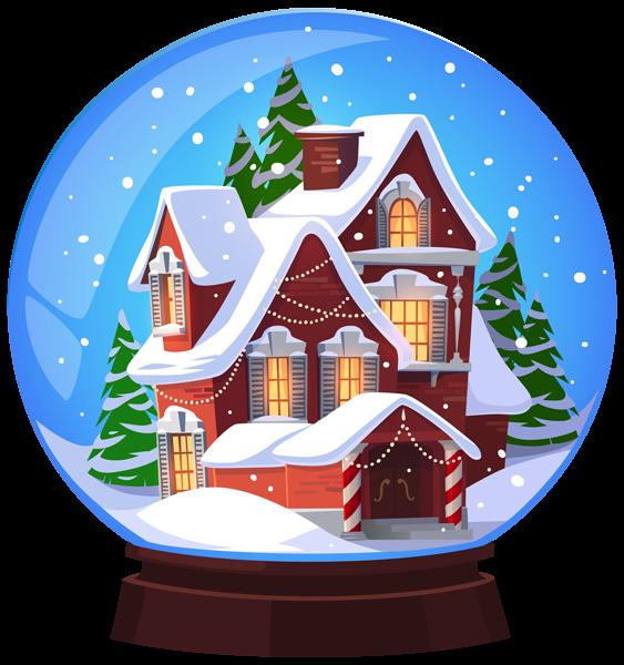 image transparent download Christmas House Snowglobe Transparent PNG Clip Art Image