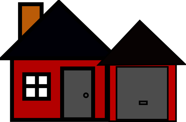 vector free library House Fire Clipart