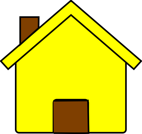 png black and white stock Yellow House Clip Art at Clker