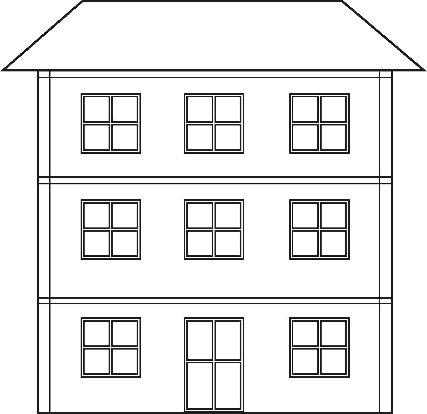 svg black and white Png house transparent big. Home clipart black and white