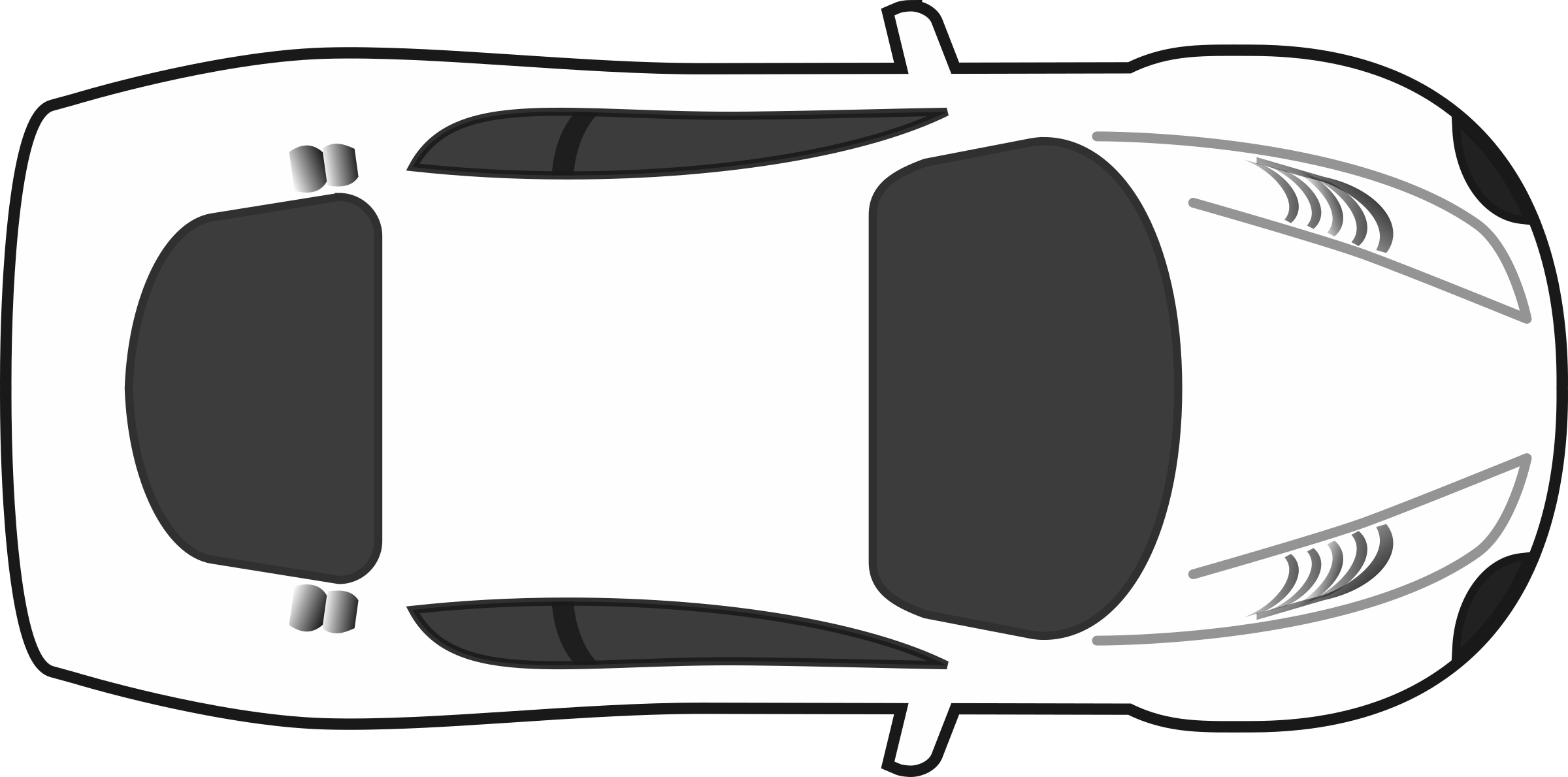 picture freeuse Top view clip art. Race car black and white clipart