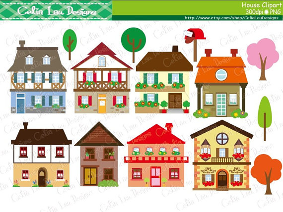 jpg royalty free stock House clip art buildings. Houses clipart.