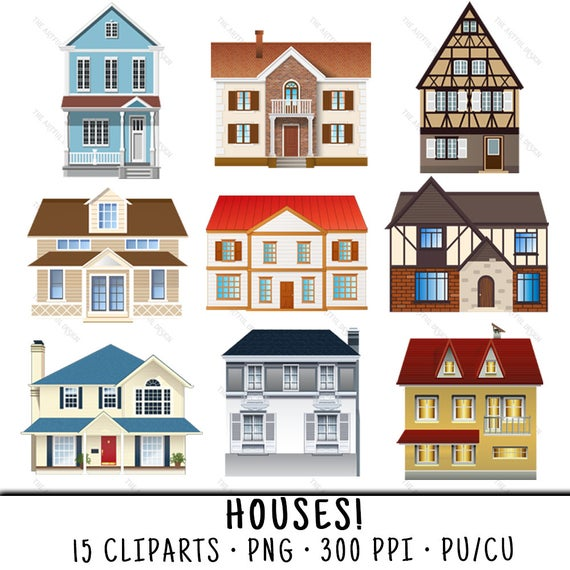 royalty free Houses clipart. House clip art png.