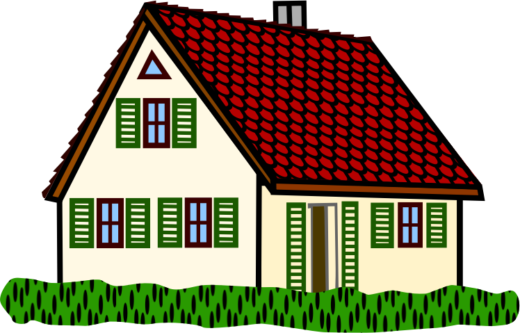 svg freeuse library Houses clipart. Clip art clipartcow clipartix.