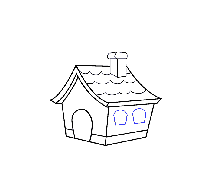 picture freeuse download How to Draw a Cartoon House in a Few Easy Steps