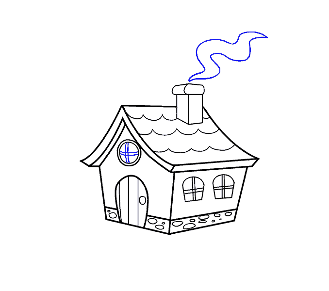 clip art How to draw a. Houses drawing.