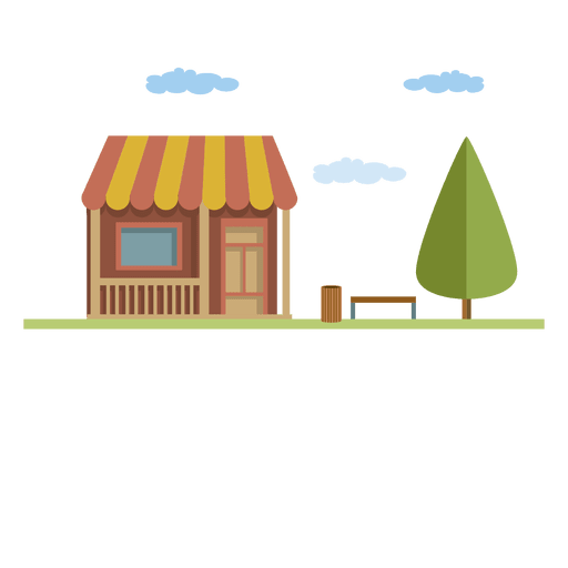 clipart freeuse library Flat small building city house