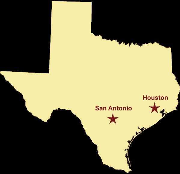 vector free Houston texas map clipart. Of san antonio location