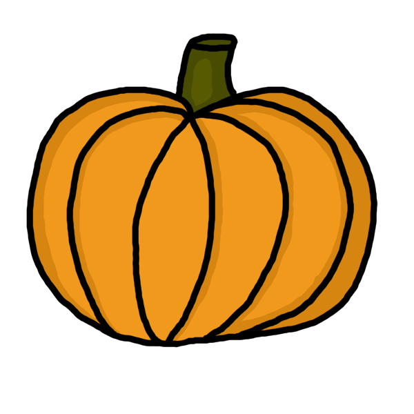 clipart library Draw a pumpkin step. How to clipart.