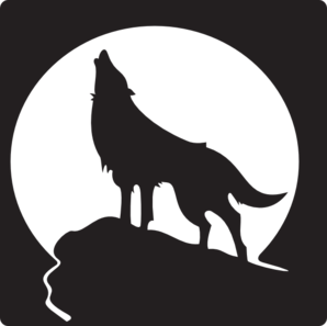 svg transparent download Wolf Howling At The Moon clip art