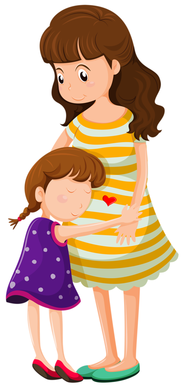 svg transparent download parent hugging child clipart #60898358