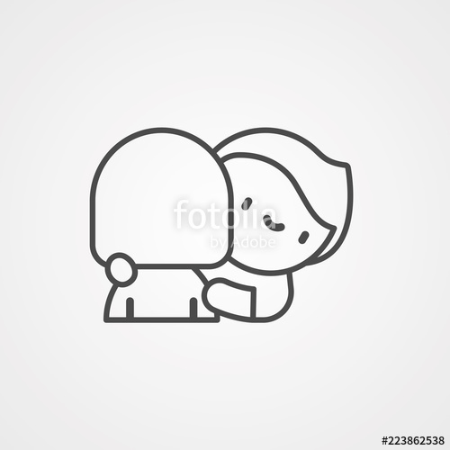 jpg library Icon sign symbol stock. Hug vector