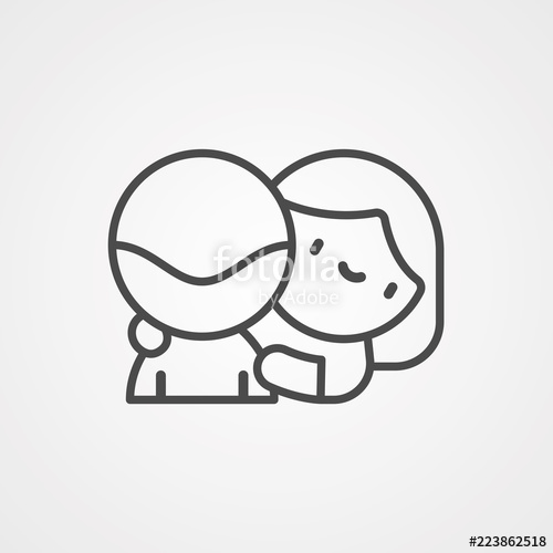 jpg library Hug vector. Icon sign symbol stock