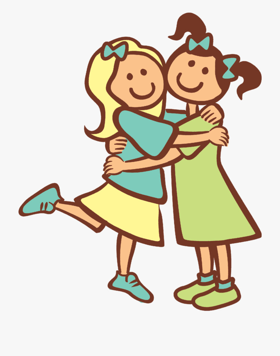 image library Two friends . Fridge clipart hugging