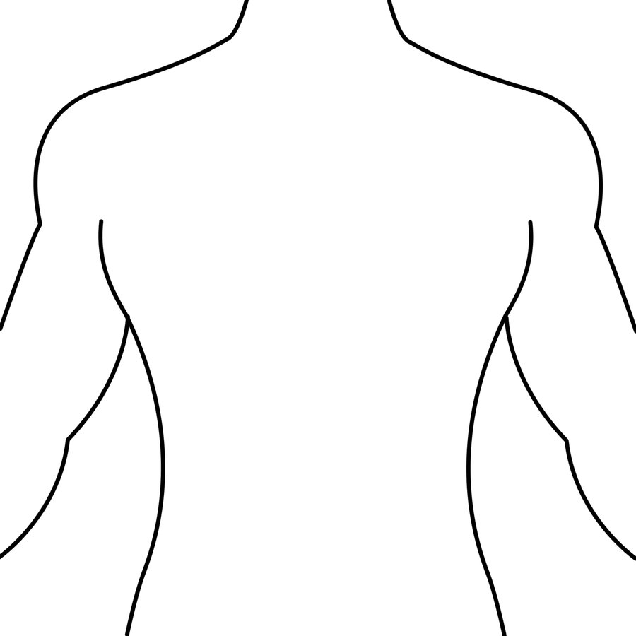 svg black and white download Free Body Back Cliparts