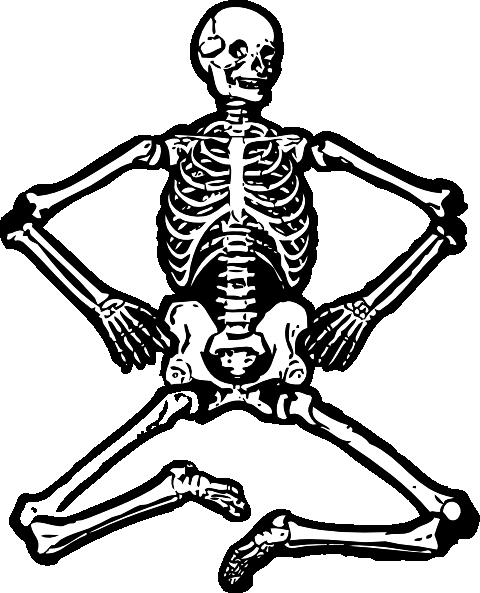 clipart royalty free library Bones vector file. Human skeleton clip art