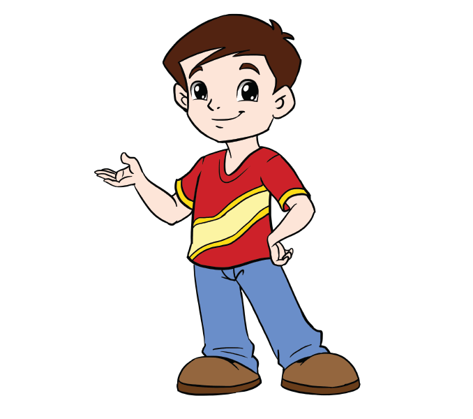 banner transparent stock How to Draw a Boy in a Few Easy Steps