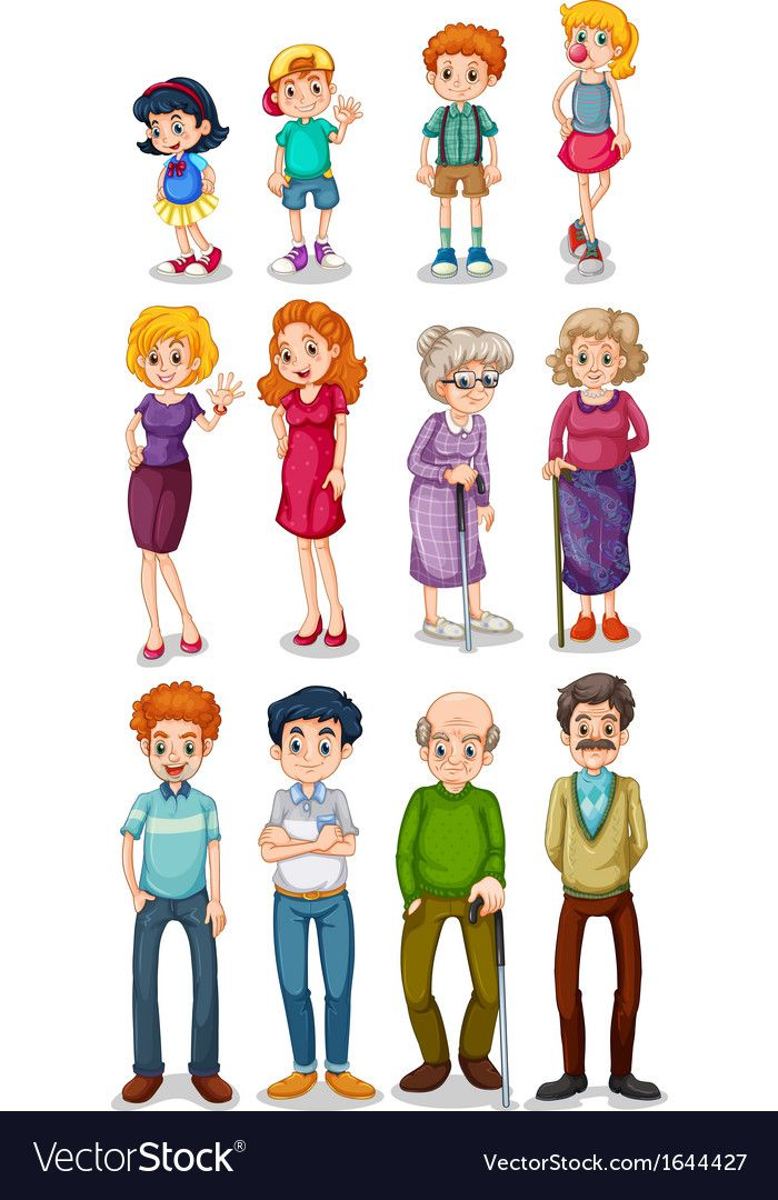 stock Royalty free vector image. Humans clipart