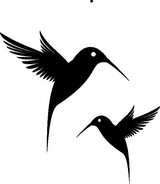 vector free library Black Humming Bird Clip Art at Clker