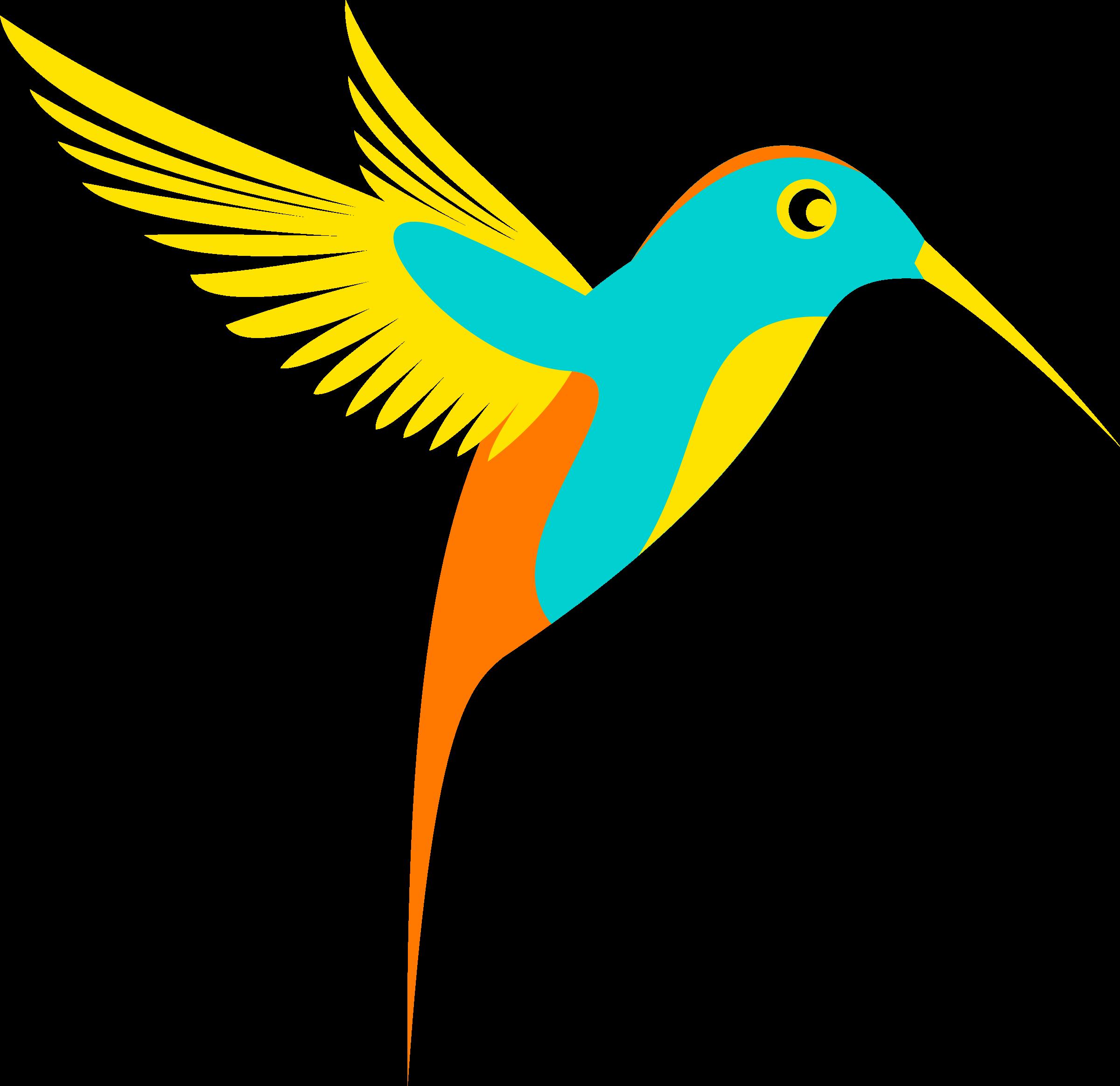 vector freeuse stock Clipart colibri single bird. Vector color full