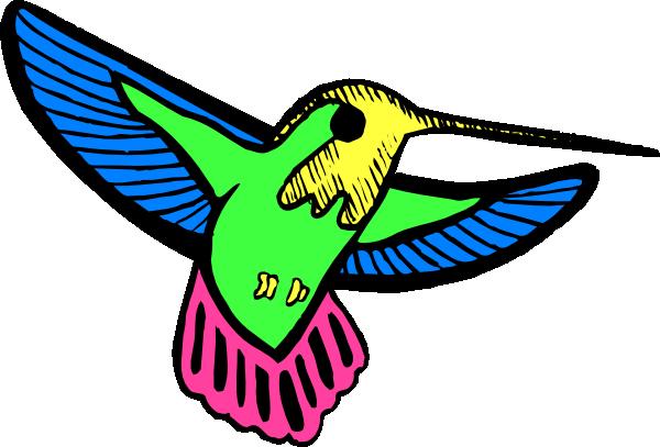 svg free Multicolored Hummingbird Clip Art at Clker