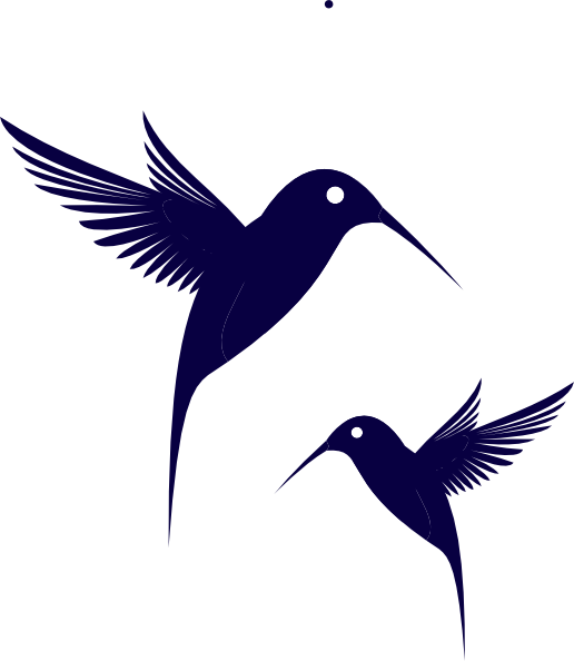graphic free stock Blue Humming Bird Clip Art at Clker