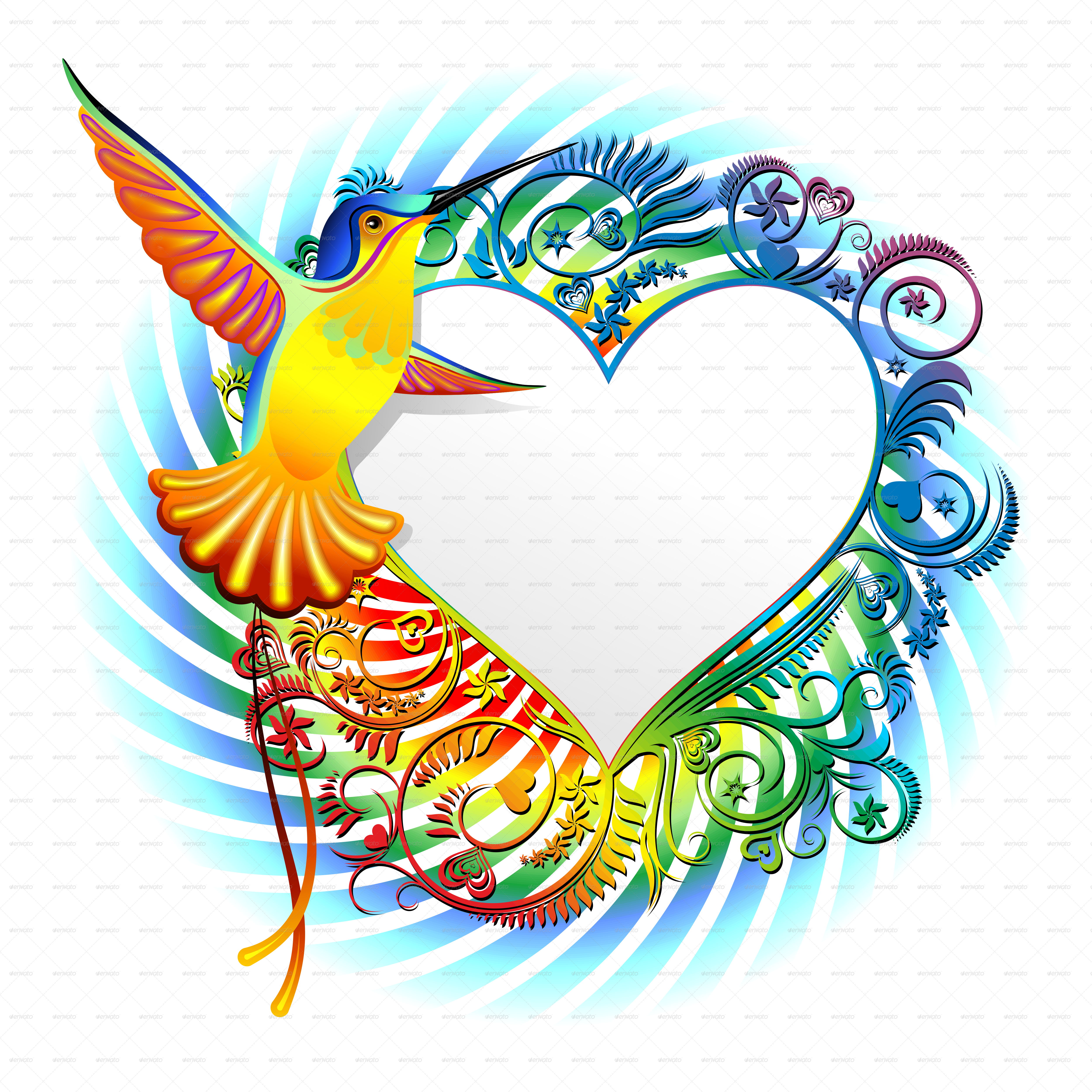 vector freeuse stock Hummingbird Exotic Designs by Bluedarkat