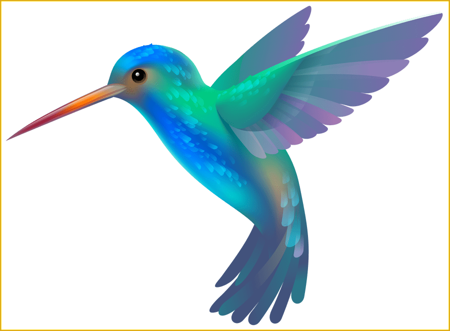 vector Awesome Hummingbird Clipart Picture Multi Colored Birds Of A Feather