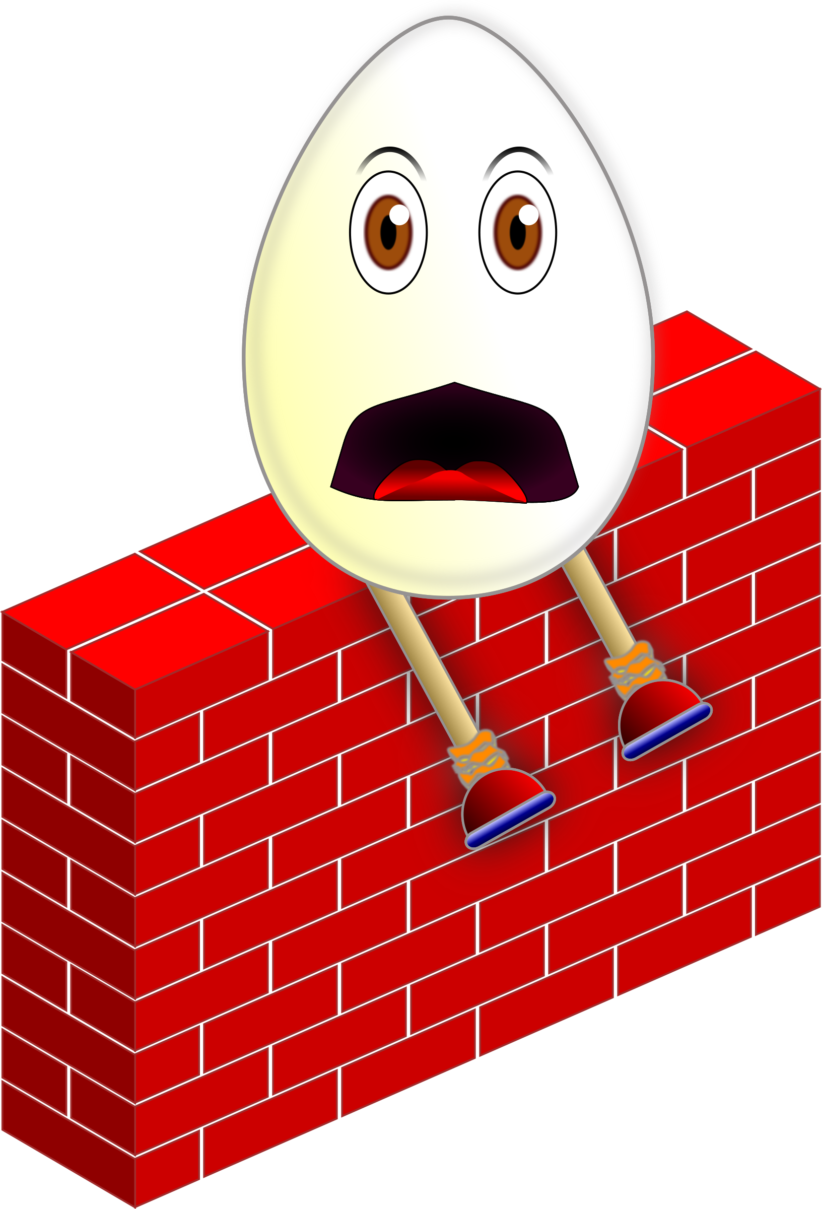 clip art black and white library Humpty dumpty clipart. On a wall big.