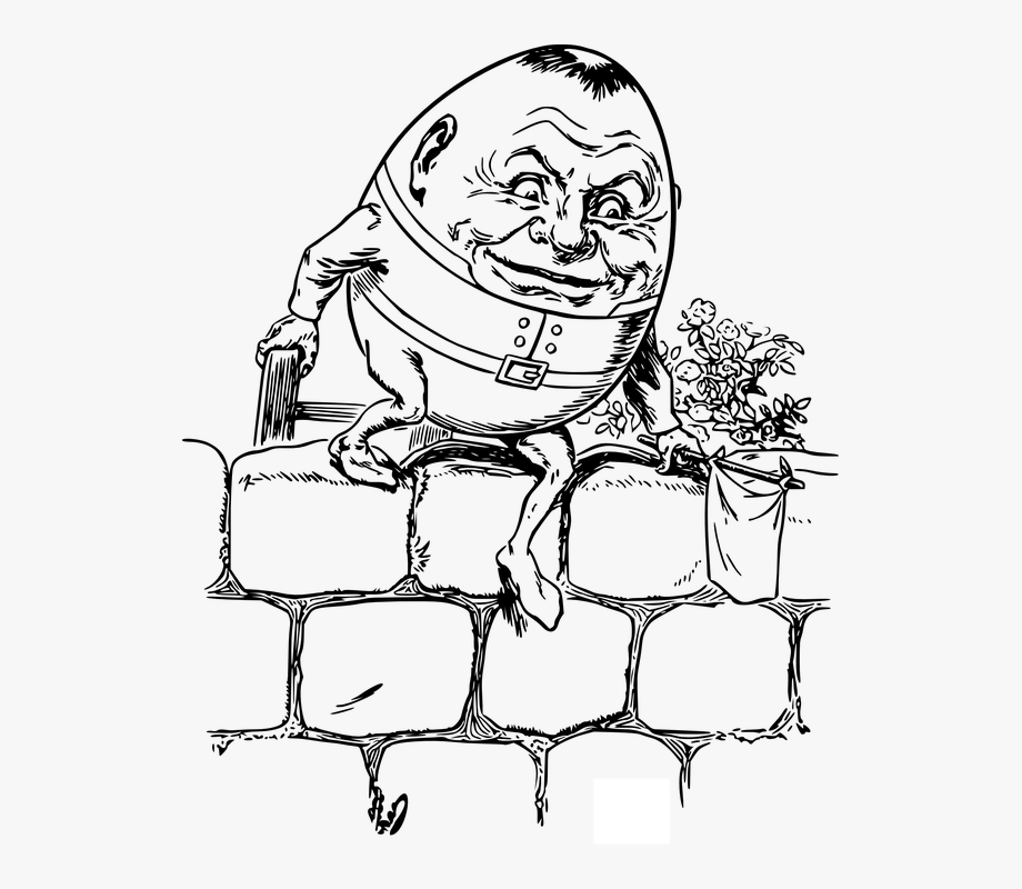 clip art freeuse stock Nursery rhyme cartoon . Humpty dumpty clipart draw