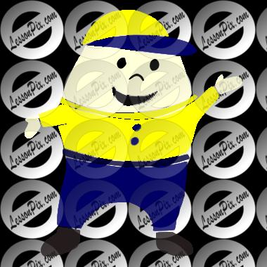 clip art free stock Humpty Dumpty Stencil for Classroom