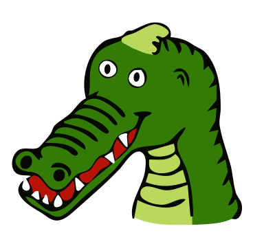 banner black and white Alligator Clipart hungry alligator