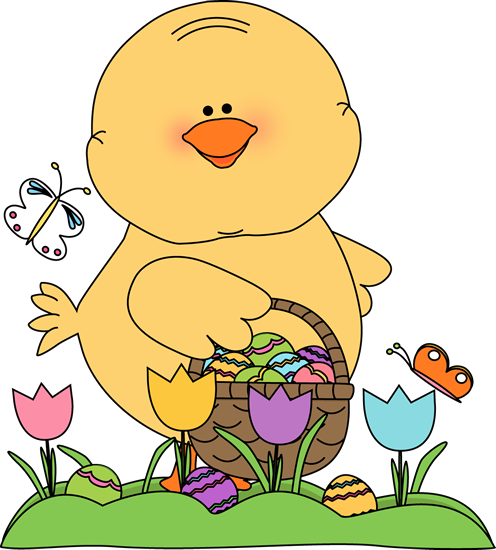 freeuse stock Easter chick on an. Hunt clipart