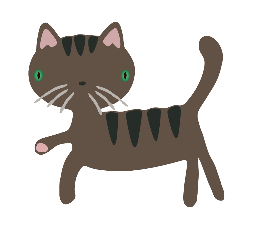 graphic freeuse stock Free Gray Cat Clipart