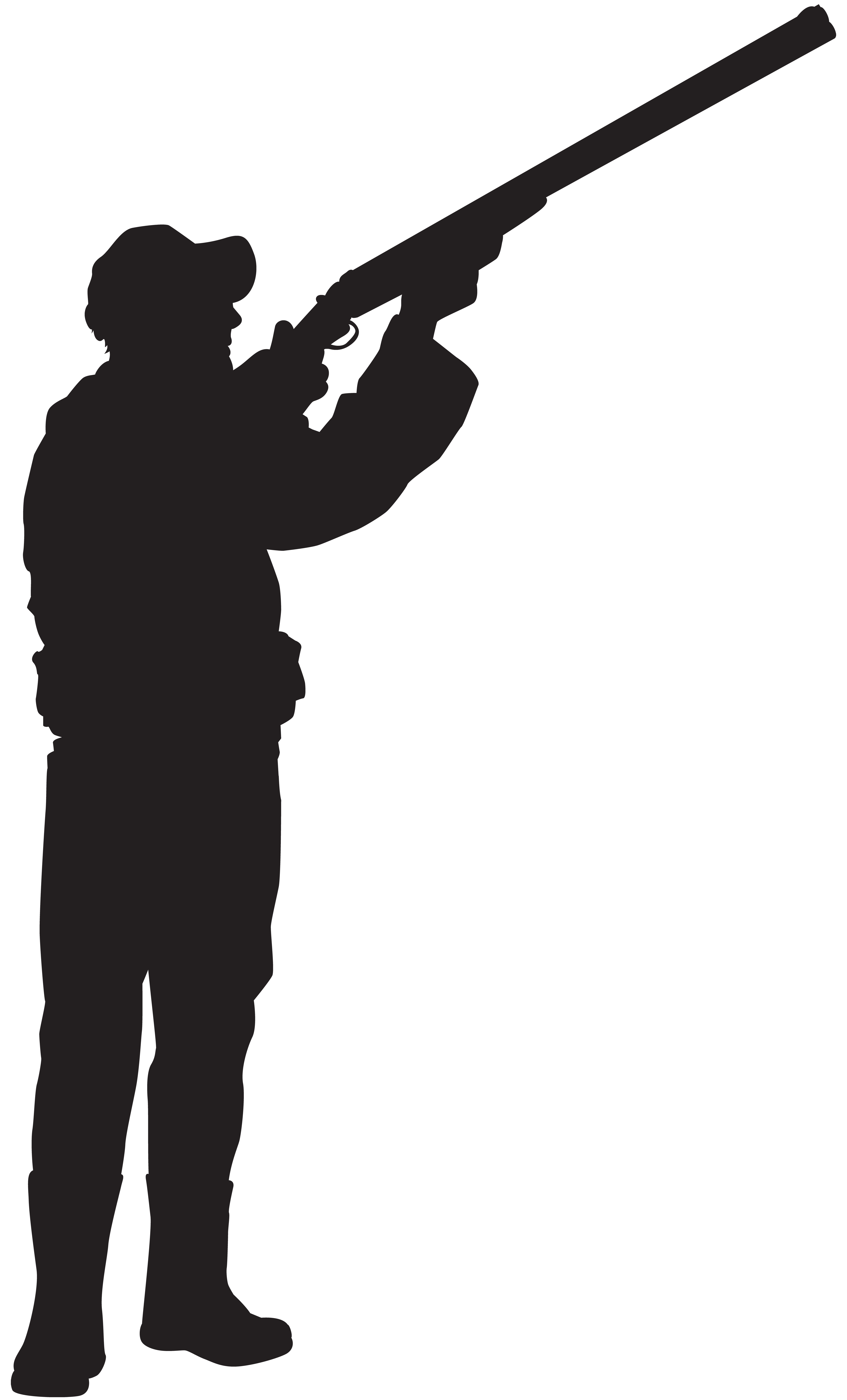 clip library stock Hunter clipart. Silhouette png clip art.