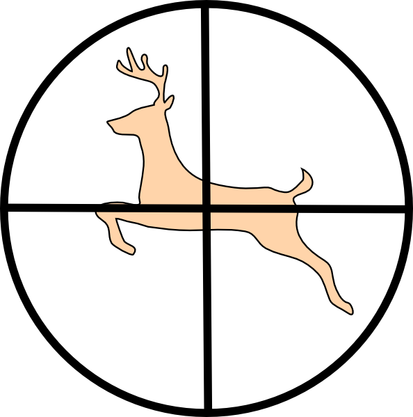 clipart library library Hunter clipart. Hunting deer clip art.