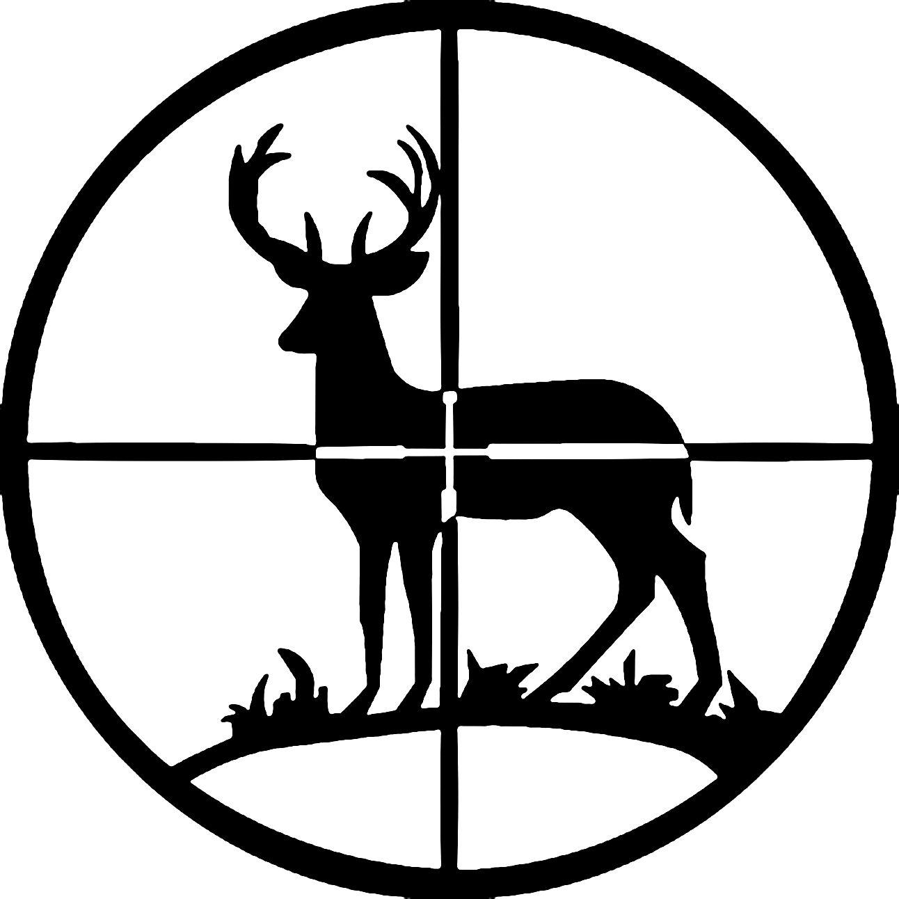 jpg free stock Hunting clipart. Deer silhouette decal art.