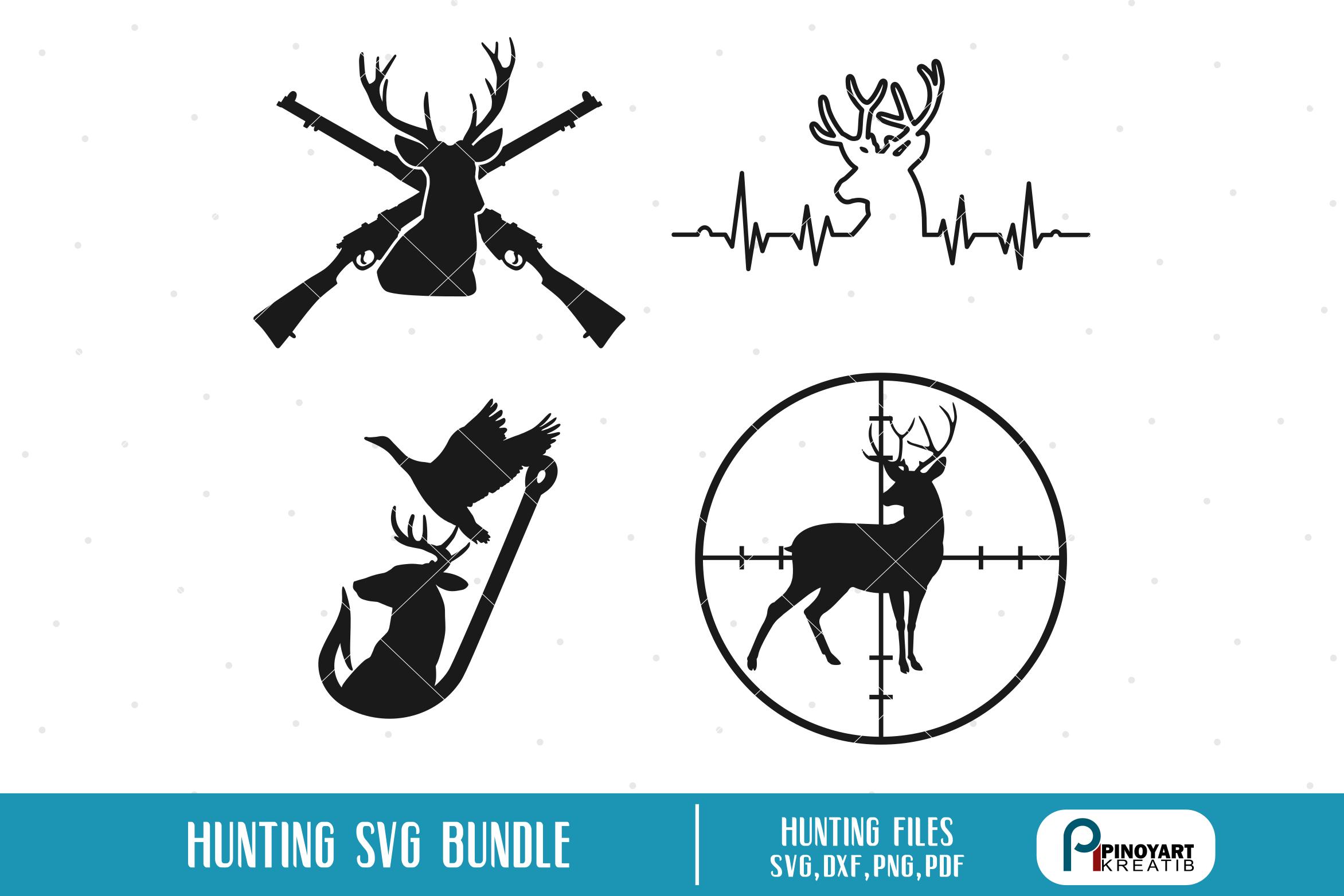 clip art royalty free library Deer svg bundle files. Hunting vector